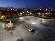 HV Transformer Manufacturer Favours CREE XSPE street/area lights to illuminate their staff car park at night